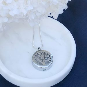 Round Tree Of Life Cremation Pendant