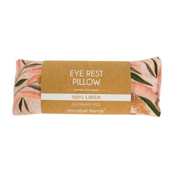 100% Linen Australian Made Bottlebrush Eye Rest Pillow