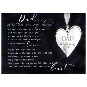 Dad Memorial Heart Orn