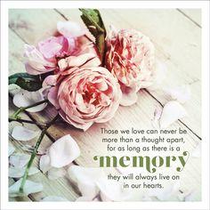 Memory Sympathy Card